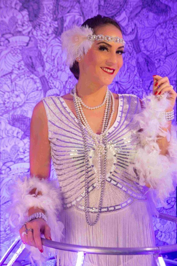 Robe à champagne tenue Gatsby robe blanche - Agence Butterfly