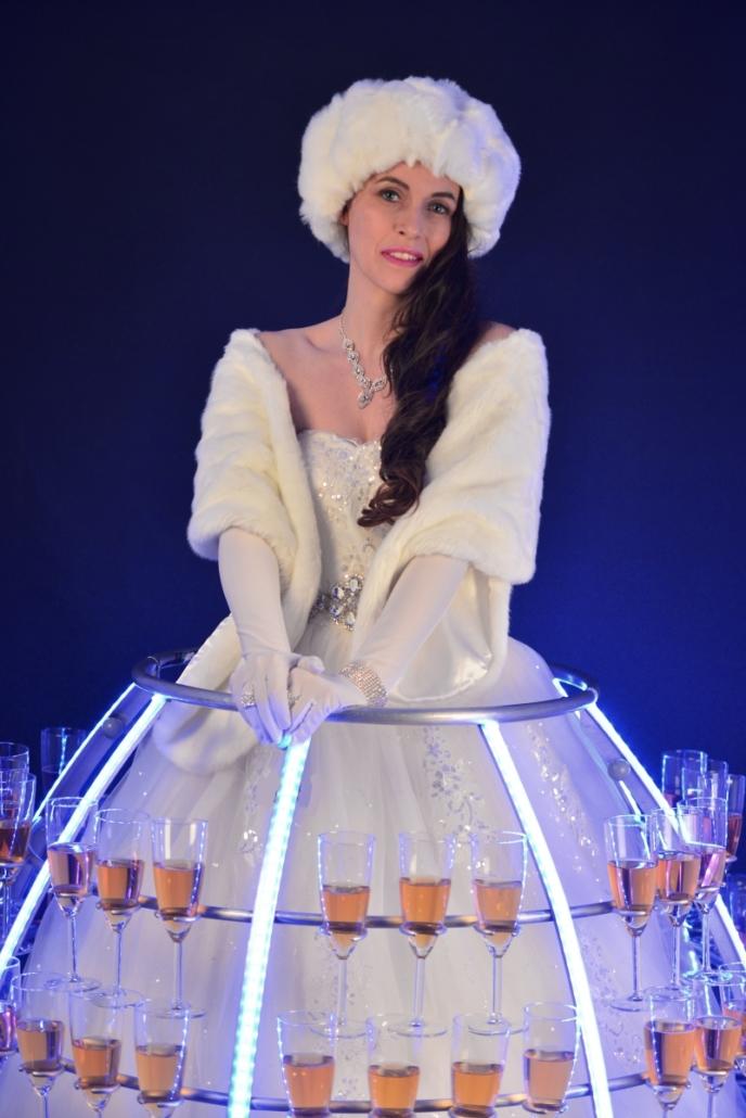 Robe à champagne portrait reine des neiges - Agence Butterfly