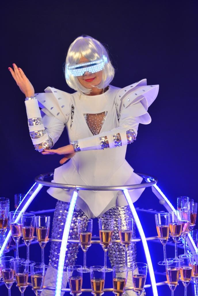 Robe à champagne avec lunette Led - Agence Butterfly