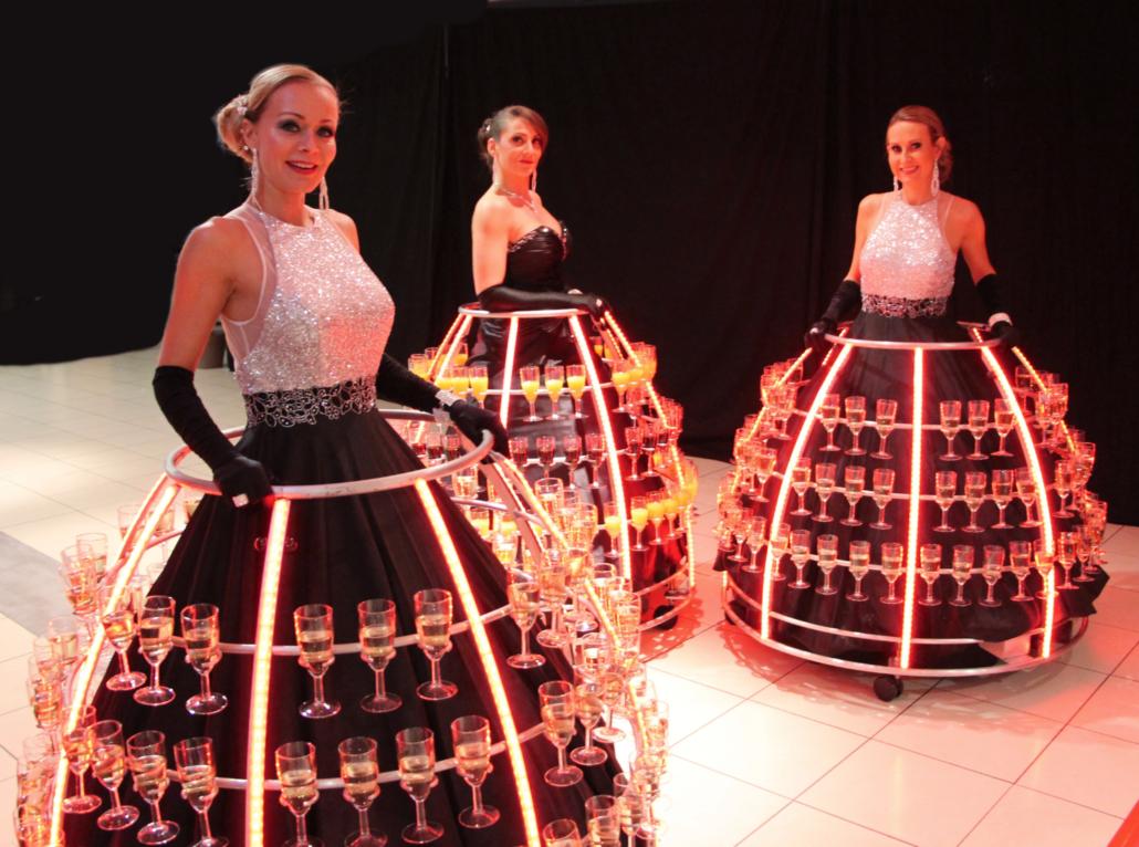 Soirée Robe à champagne tenue de gala - Agence Butterfly