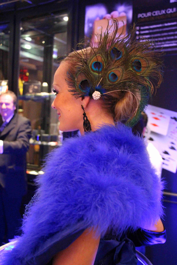 Robe à champagne tenue bleue avec chignon - Agence-Butterfly