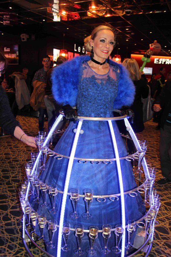 Robe à champagne Tenue de soiree bleue - Agence-Butterfly