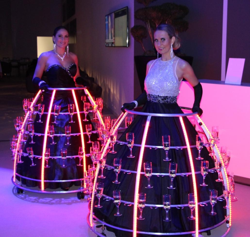 Robe à champagne tenue de gala - Agence Butterfly