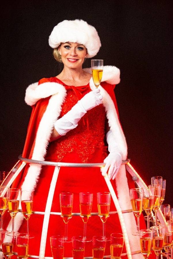 Robe à champagne Noël - Agence Butterfly