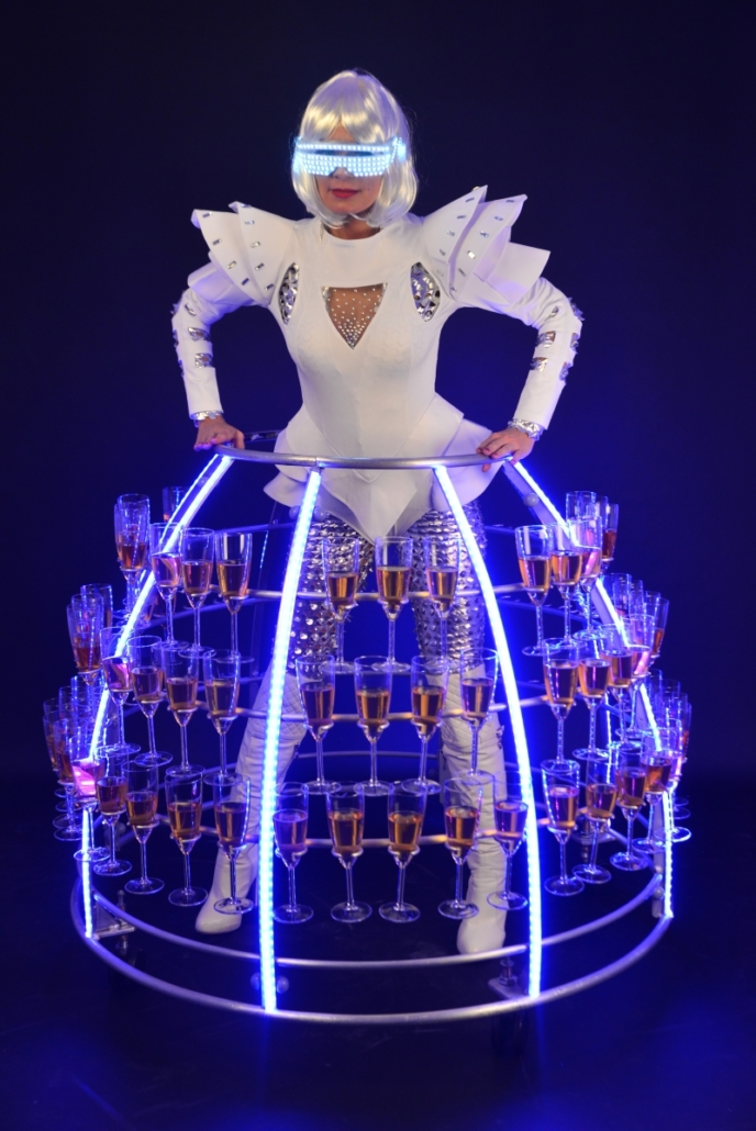 Robe à champagne Futuriste - Agence Butterfly