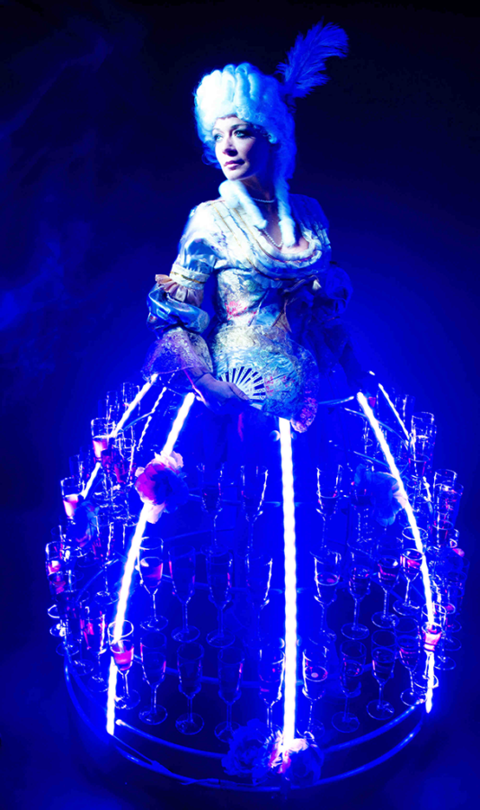 Robe à champagne marquise led bleu - Agence Butterfly