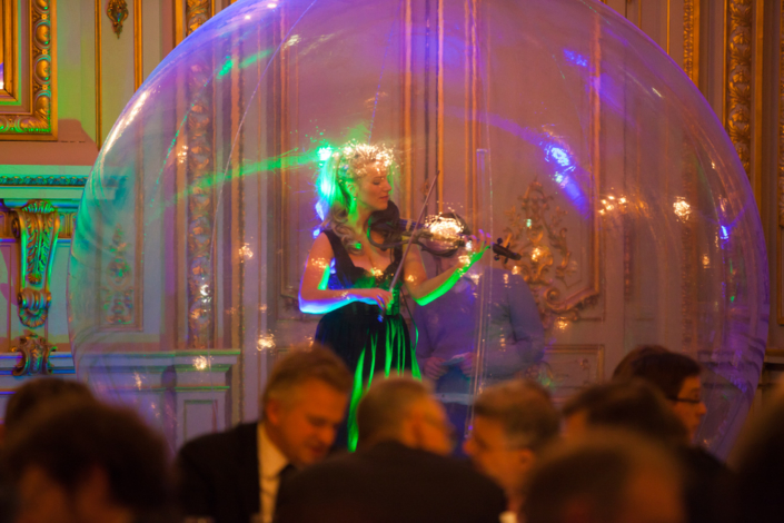 Violoniste dans bulle