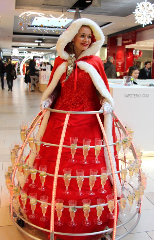 Cape de la mere Noël robe à champagne - Agence Butterfly